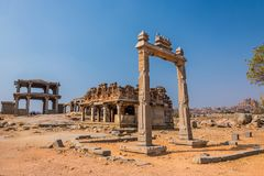 Famous King`s balance of Hampi Royalty Free Stock Photo