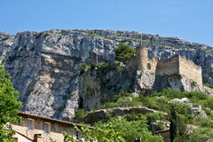 Ruins at Fontaine-de-Vaucluse Stock Photography