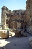 Ruins of the former city of Heliopolis, the city of God Baal, Ba Royalty Free Stock Photography