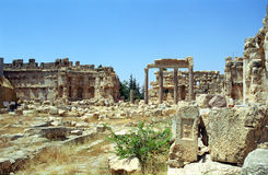 Ruins of the former city of Heliopolis, the city of God Baal, Ba Royalty Free Stock Photo