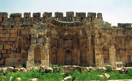 Ruins of the former city of Heliopolis, the city of God Baal, Ba Royalty Free Stock Images