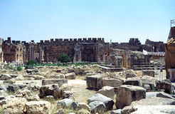 Ruins of the former city of Heliopolis, the city of God Baal, Ba Royalty Free Stock Image