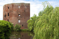 The ruins of the former Dutch castle Teylingen Royalty Free Stock Photo