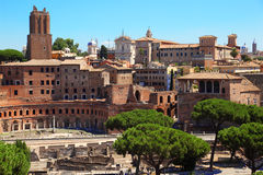 Ruins of Foro di Traiano in Rome Royalty Free Stock Image