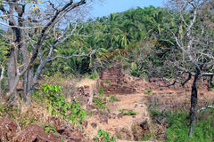 Ruins of fort Cabo de Rama in South Goa Stock Photos
