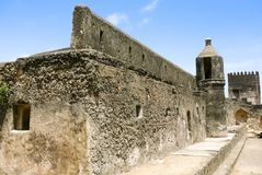 Ruins of fort Jesus in Mombasa Royalty Free Stock Images