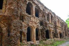 Ruins of  fort Tarakanovskiy. Stock Image