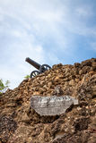The ruins of Fort Warwick in San Andres, Colombia Stock Image