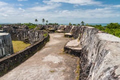 Ruins of fortification Stock Image