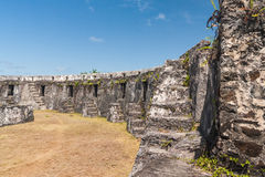 Ruins of fortification Stock Images