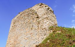 Ruins of fortification bulwark. Medieval rampart Stock Photography