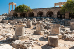 Ruins of fortifications Royalty Free Stock Photo