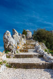 The ruins of the fortifications. The rock of Gibraltar Stock Photo