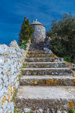 The ruins of the fortifications. The rock of Gibraltar Royalty Free Stock Photos