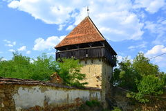 Ruins. Fortified medieval saxon evangelic church in the village Cobor, Transylvania, Romania. Royalty Free Stock Photos
