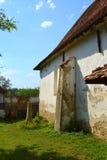 Ruins. Fortified medieval saxon evangelic church in the village Cobor, Transylvania, Romania. Stock Photos