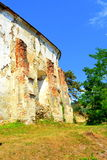 Ruins. Fortified medieval saxon evangelic church in the village Felmer, Felmern, Transylvania, Romania. Royalty Free Stock Photography