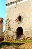 Ruins. Fortified medieval saxon evangelic church in the village Felmer, Felmern, Transylvania, Romania. Royalty Free Stock Image