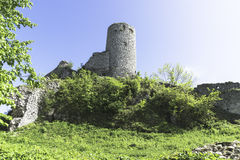 Ruins of the fortress. The ruins of the castle in Smolen, Poland Royalty Free Stock Images