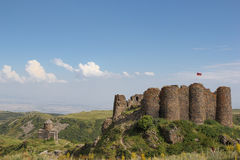 Ruins of fortress Amberd Royalty Free Stock Image