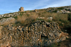 The ruins of the fortress in Balaklava Royalty Free Stock Image