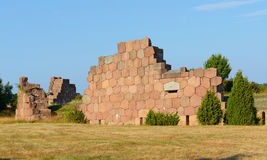 Ruins of the fortress Bomarsund (1832-1854) Stock Images