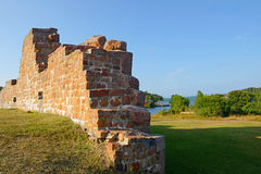 Ruins of the fortress Bomarsund (1832-1854) Stock Photography
