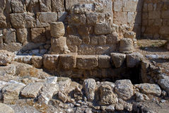 Ruins of the fortress of Herod, the Great, Herodium, Palestine Royalty Free Stock Photography
