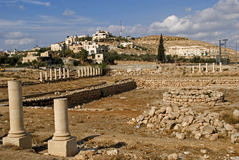 Ruins of the fortress of Herod, the Great, Herodium, Palestine Royalty Free Stock Images