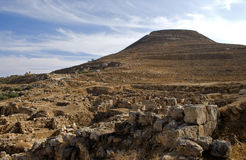 Ruins of the fortress of Herod, the Great, Herodium, Palestine Royalty Free Stock Image