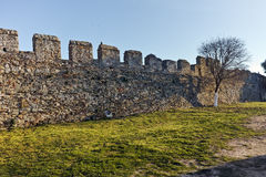 Ruins of fortress in Kavala, East Macedonia and Thrace Royalty Free Stock Images