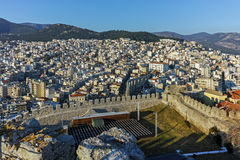 Ruins of fortress in Kavala, East Macedonia and Thrace Stock Images