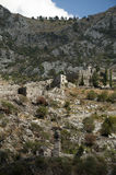 Ruins of the fortress located in the city of Kotor, Montenegro Royalty Free Stock Photo