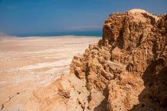 Ruins of fortress Masada, Israel. sunny day Stock Photo