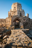 Ruins of the fortress of Methoni, Peloponnese, Greece Stock Image