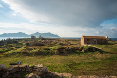 Ruins of the fortress of Methoni, Peloponnese, Greece Stock Photo