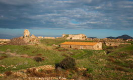 Ruins of the fortress of Methoni, Peloponnese, Greece Royalty Free Stock Photos