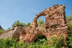 Ruins in fortress Oreshek Royalty Free Stock Image