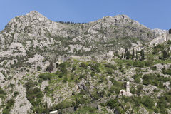 Ruins of the fortress over Kotor Royalty Free Stock Photo