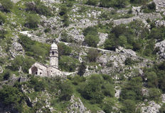 Ruins of the fortress over Kotor Royalty Free Stock Images