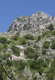 Ruins of the fortress over Kotor Royalty Free Stock Image