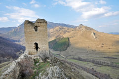 Ruins of a fortress on a rock Stock Photography