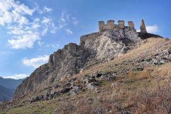 Ruins of a fortress on a rock Stock Image