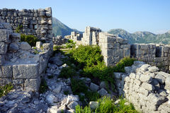 Ruins of fortress Stock Photo