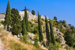Ruins of the fortress of St John over Kotor, Montenegro Royalty Free Stock Photo