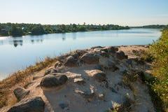 Ruins of fortress Staraya Ladoga Royalty Free Stock Photo