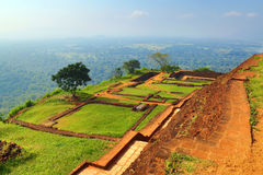 Ruins of fortress on top of Sigiriya Stock Images