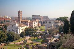 Ruins of the forum Royalty Free Stock Photo