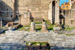 Ruins of Forum of Augustus in Rome Stock Image