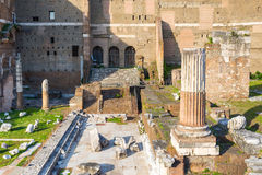 Ruins of Forum of Augustus in Rome Stock Photography